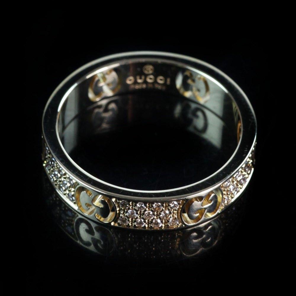 Gucci Gucci Icon Stardust 18k Yellow Gold & Diamond Ring