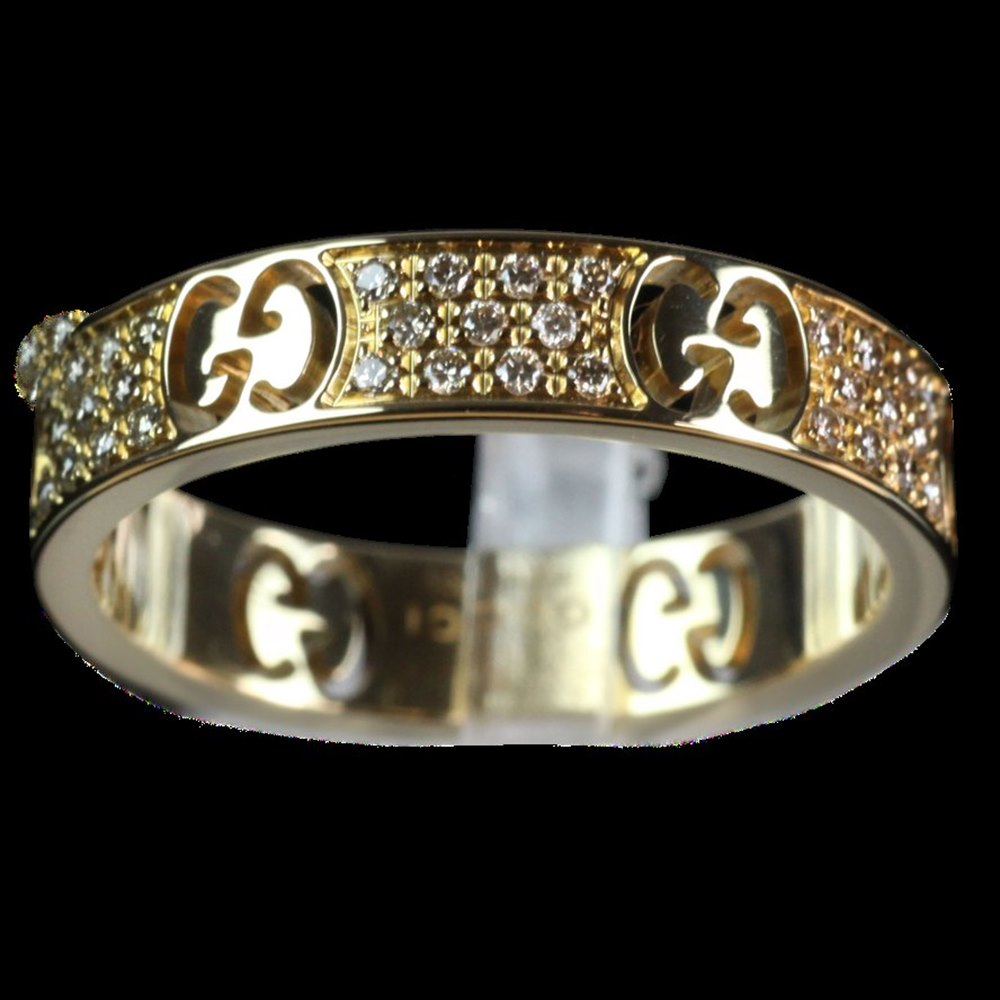 Gucci Gucci Icon Stardust 18k Yellow Gold & Diamond Ring