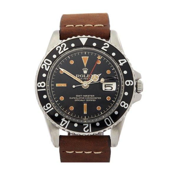 Rolex GMT-Master Gilt Underline Dial Stainless Steel - 1675