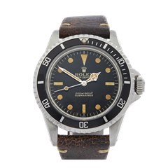Rolex Submariner Gilt Gloss Meters First Underline Pointed crown guards Stainless Steel - 5513