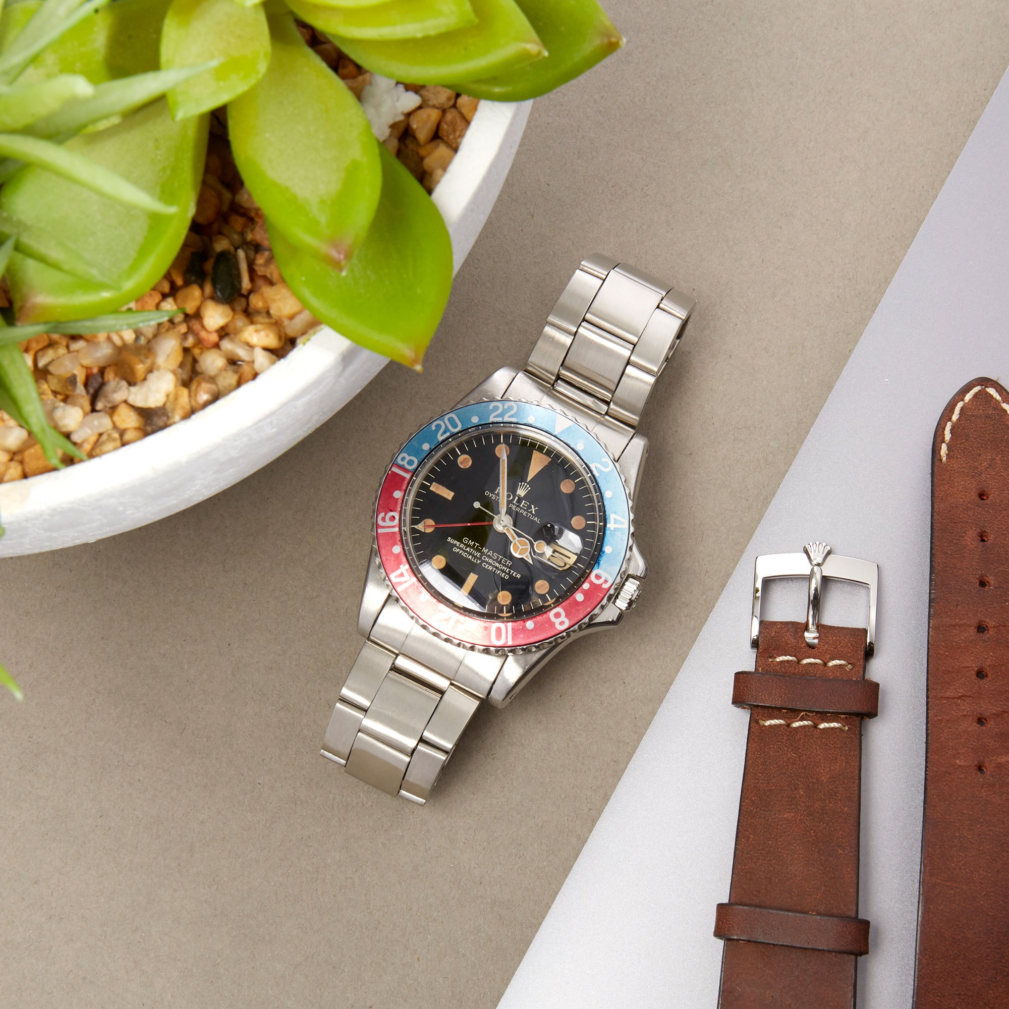 Rolex GMT-Master Pepsi Gilt Dial Stainless Steel - 1675 Stainless Steel 1675