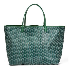 Goyard Green Chevron Coated Canvas St Louis GM