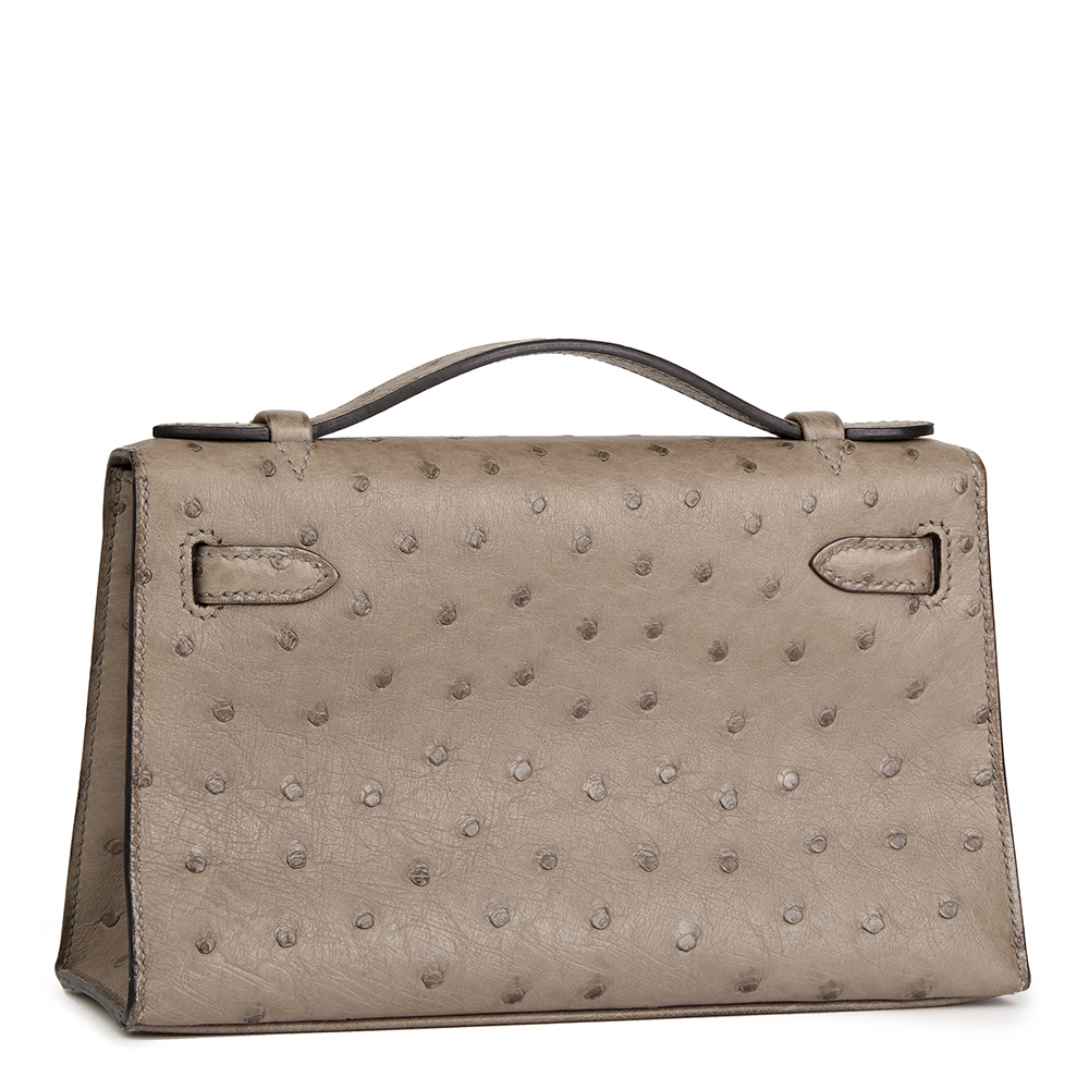 6ee9485e462 ... discount code for hermès gris tourterelle ostrich leather kelly  pochette ac3c1 ccaea