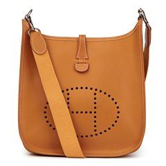 Hermès Natural Chamonix Leather Evelyne I PM