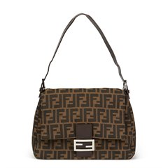 Fendi Brown Monogram Canvas Mama Baguette