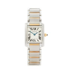 Cartier Tank Francaise Stainless Steel & 18K Yellow Gold - 2384