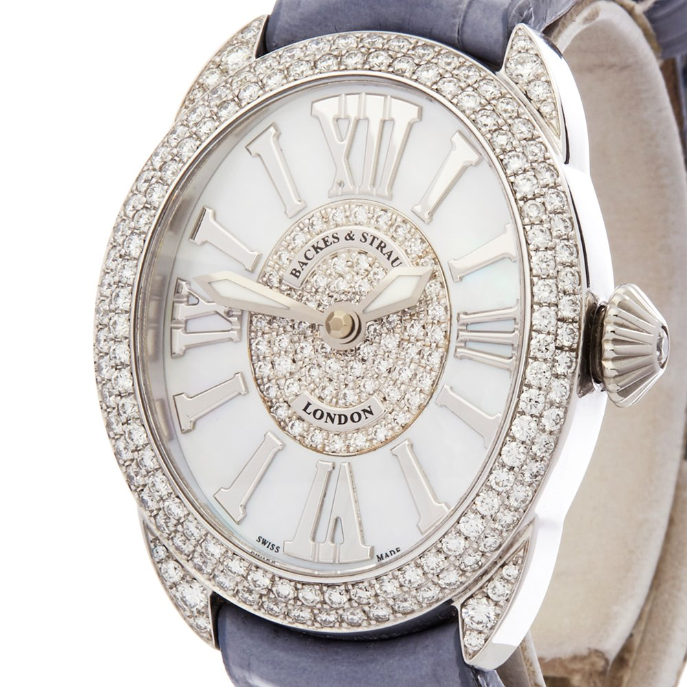 blr women regent steel ladies details womens backes dint stainless s product diamond st watches and strauss