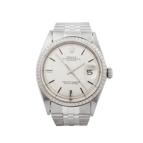 Rolex DateJust 36 Linen Dial Stainless Steel - 1603
