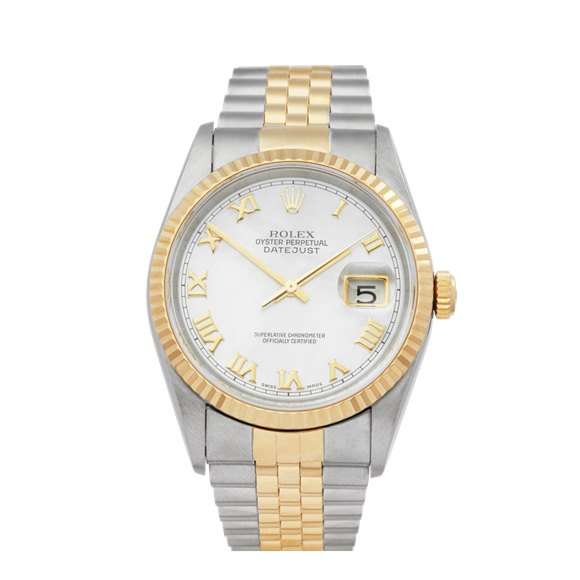 Rolex DateJust 36 Mother of Pearl Stainless Steel & Yellow Gold - 16233