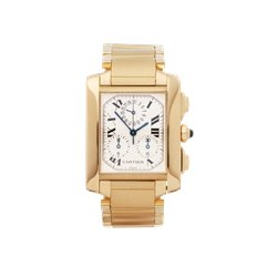 Cartier Tank Francaise Chronoflex Stainless Steel & 18K Yellow Gold - W50005R2