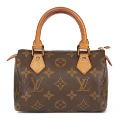 Louis Vuitton Brown Monogram Coated Canvas Vintage Mini HL Speedy