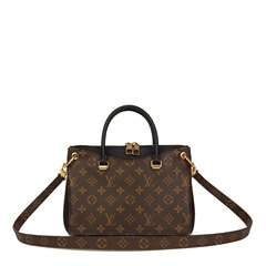 Louis Vuitton Brown Monogram Coated Canvas & Black Calfskin Leather Pallas BB