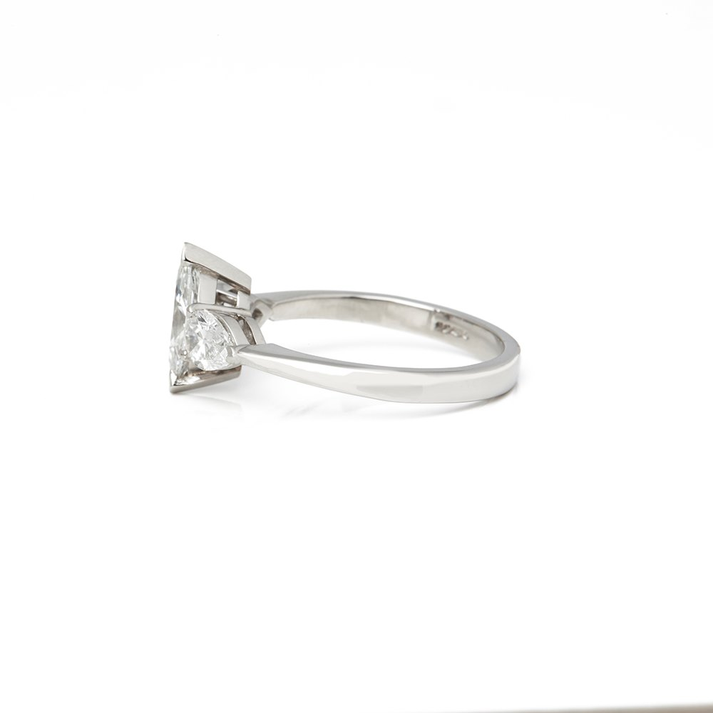 Diamond  Platinum Marquise Cut Diamond Engagement Ring