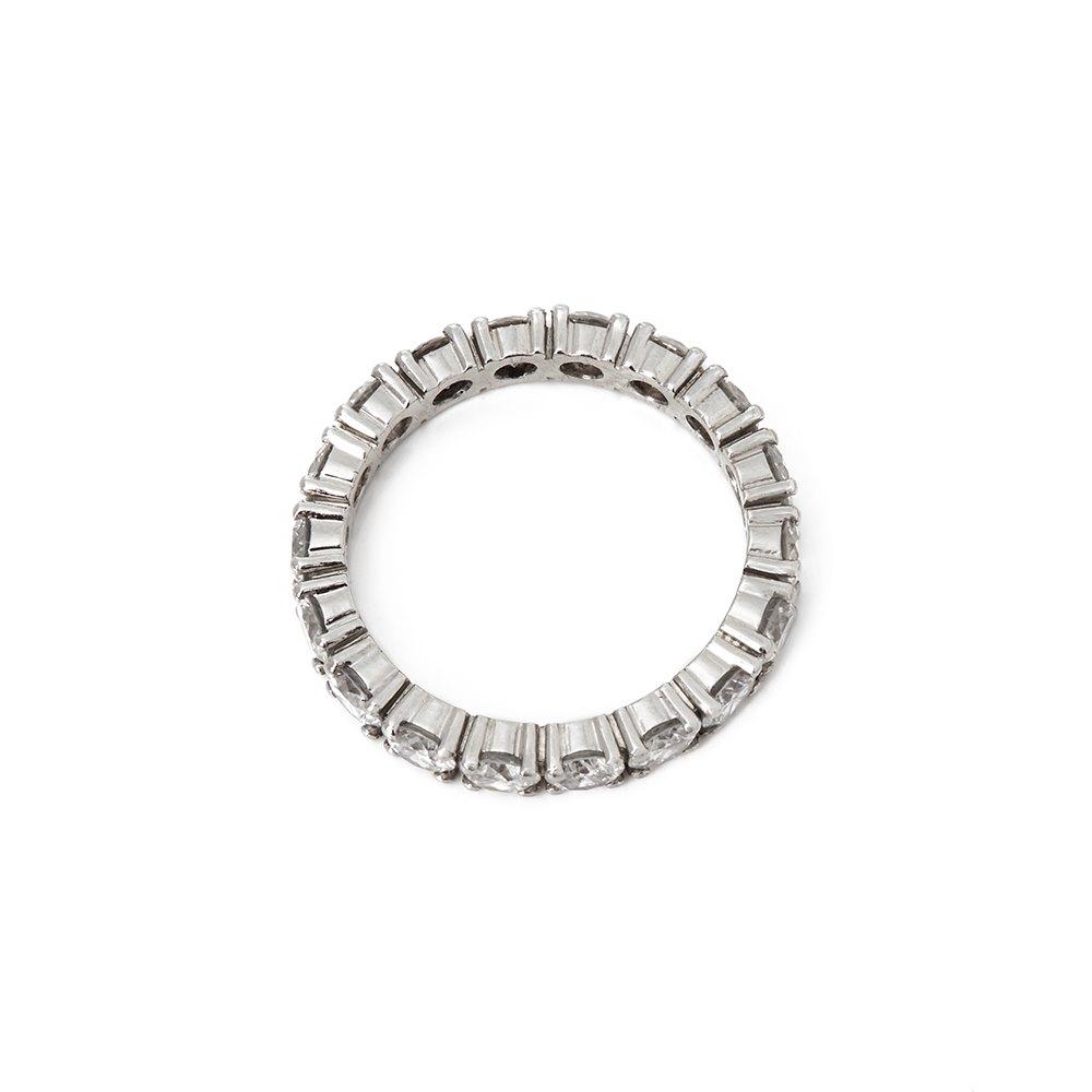 Diamond  Platinum Full Round Brilliant Cut Diamond Eternity Ring