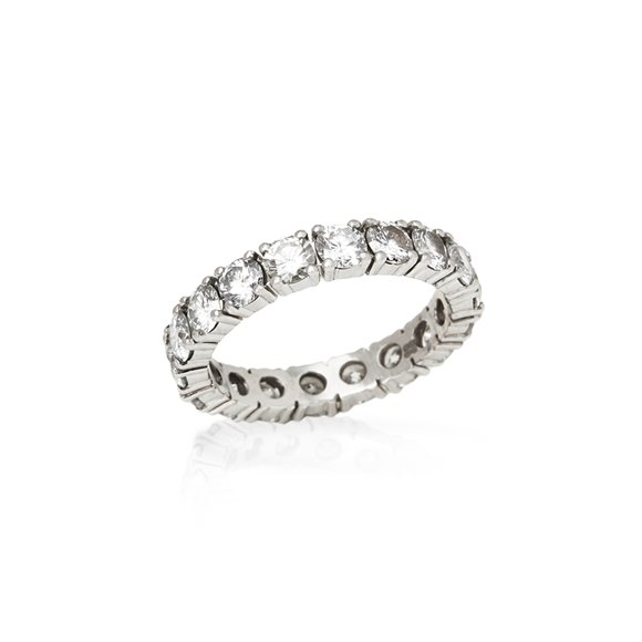 Platinum Full Diamond Eternity Ring
