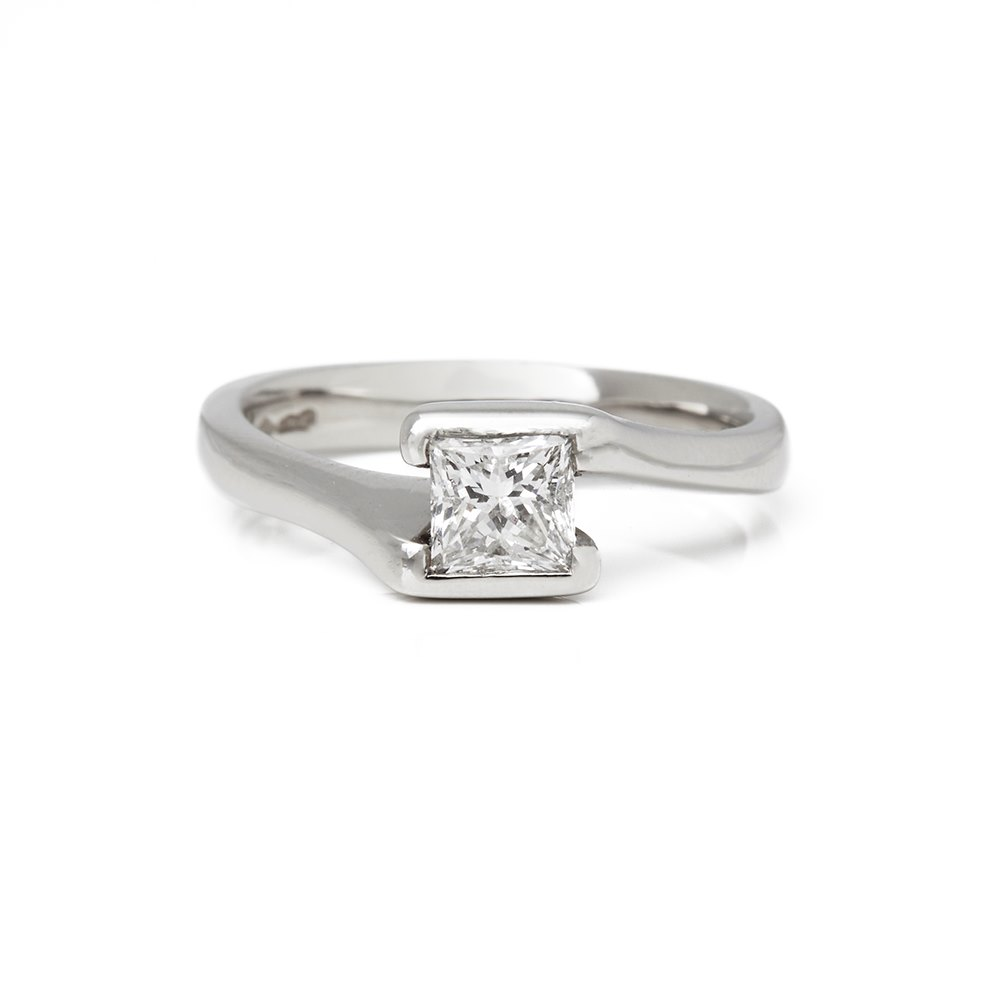 Diamond  Platinum Princess Cut Diamond Engagement Ring