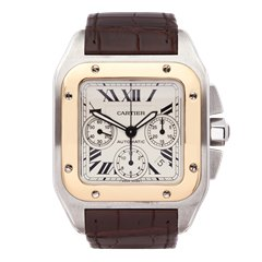 Cartier Santos 100 Chronograph Stainless Steel & 18K Yellow Gold - 2740