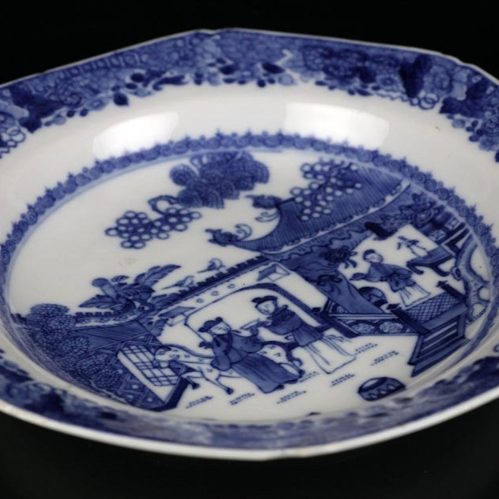 PORCELAIN PLATE PAINTED WITH FIGURES Qianlong Period 18th Century