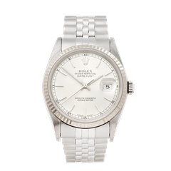 Rolex Datejust 36 Stainless Steel & 18K White Gold - 16234