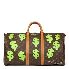 Louis Vuitton Xupes X Year Zero London Hand-Painted 'Benjamin$ Baby' Keepall Bandouliere 55