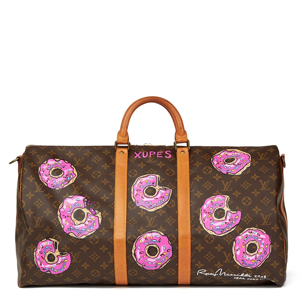 0dcfa3eff1b7 Louis Vuitton Xupes X Year Zero London Hand-Painted   weet Tooth  Keepall
