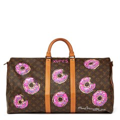 Louis Vuitton Xupes X Year Zero London Hand-Painted '$weet Tooth' Keepall Bandouliere 55
