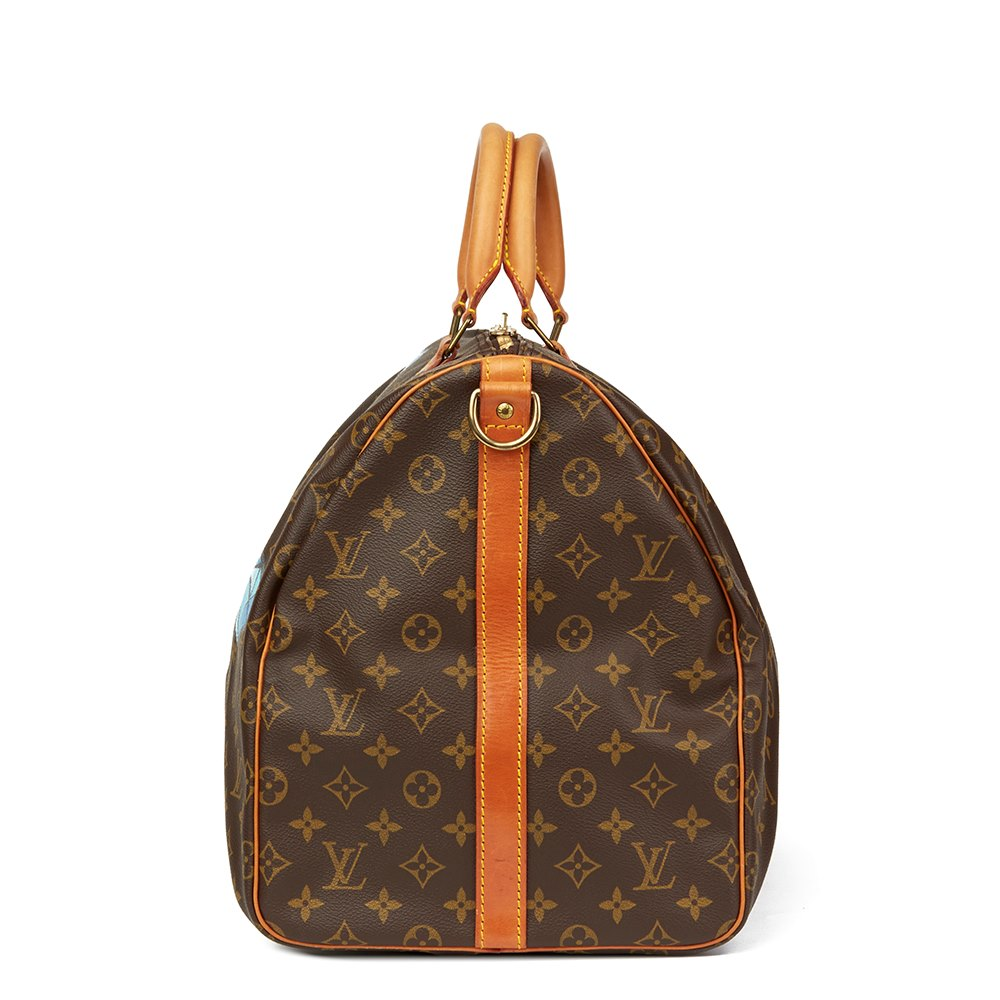 Louis Vuitton Hand-painted hei$t Keepall Bandouliere 55 TaVp2