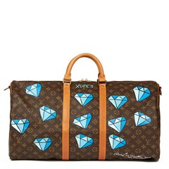 Louis Vuitton Xupes X Year Zero London Hand-Painted 'Hei$t' Keepall Bandouliere 55