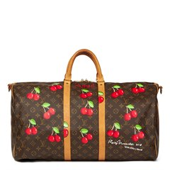 Louis Vuitton Xupes X Year Zero London Hand-Painted 'Cherrie$' Keepall Bandouliere 55