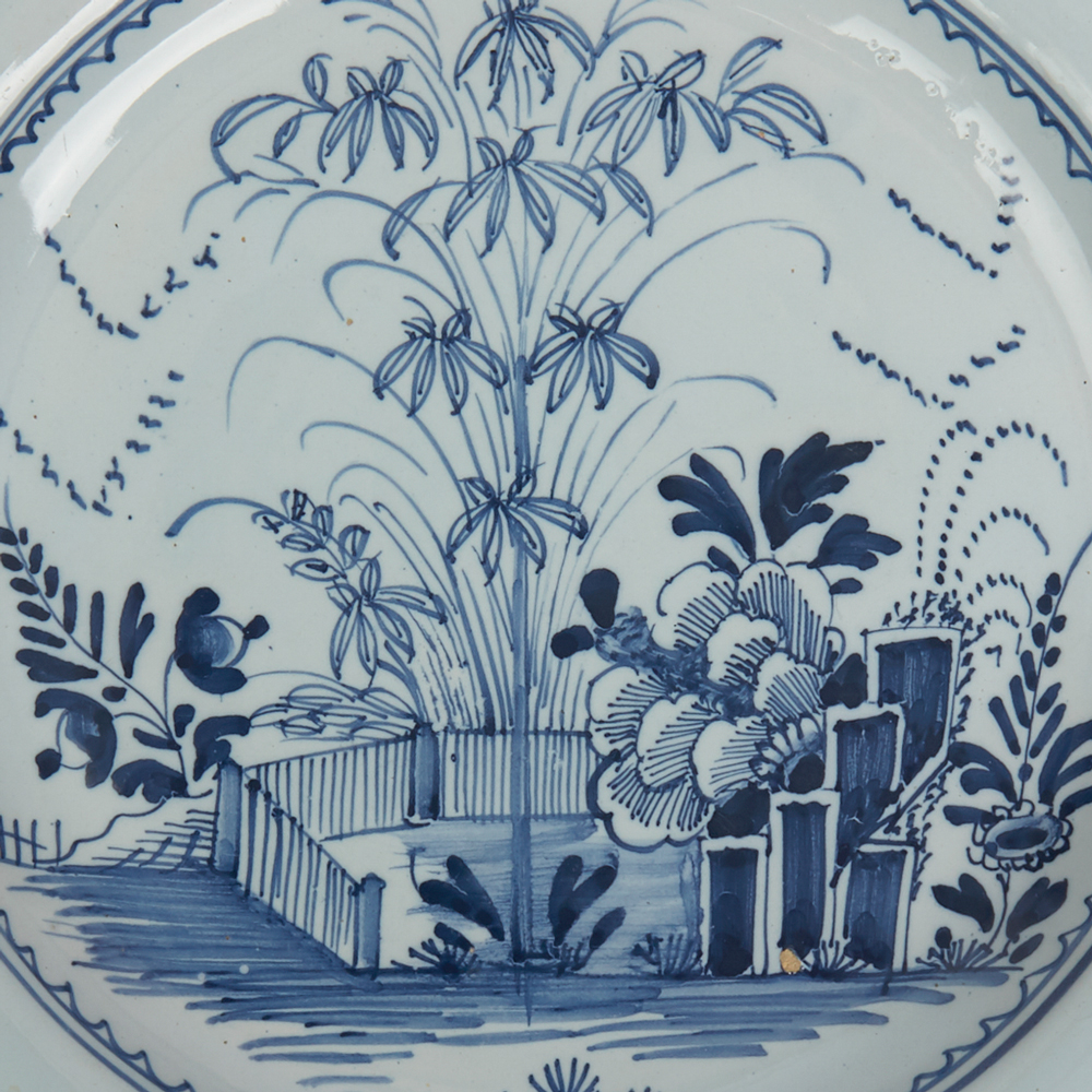 Pottery & Glass Vintage Blue White Delft Handpainted Holland Pierced Bowl Dish Windmill Design Convenience Goods