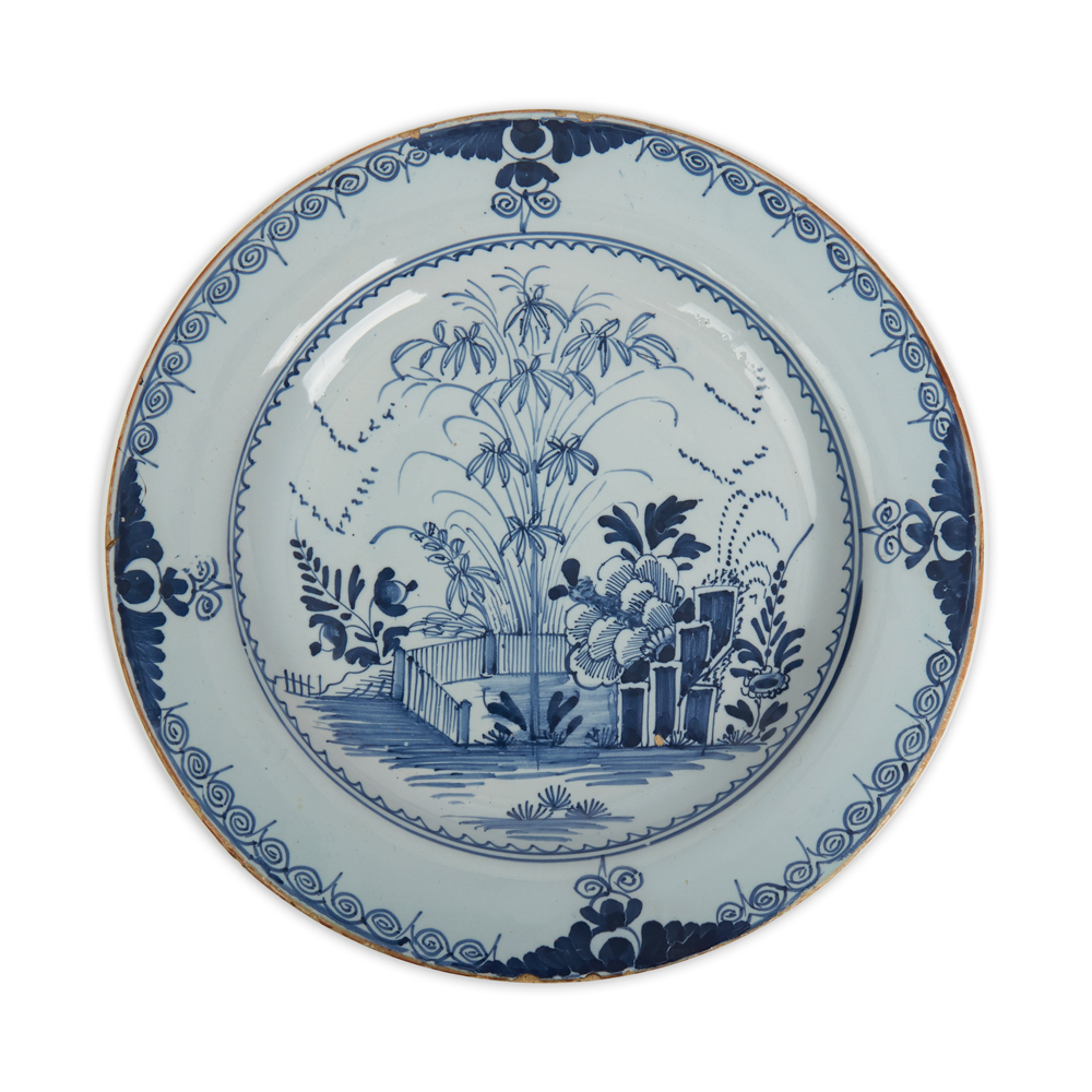 Pottery & China Vintage Blue White Delft Handpainted Holland Pierced Bowl Dish Windmill Design Convenience Goods Delft
