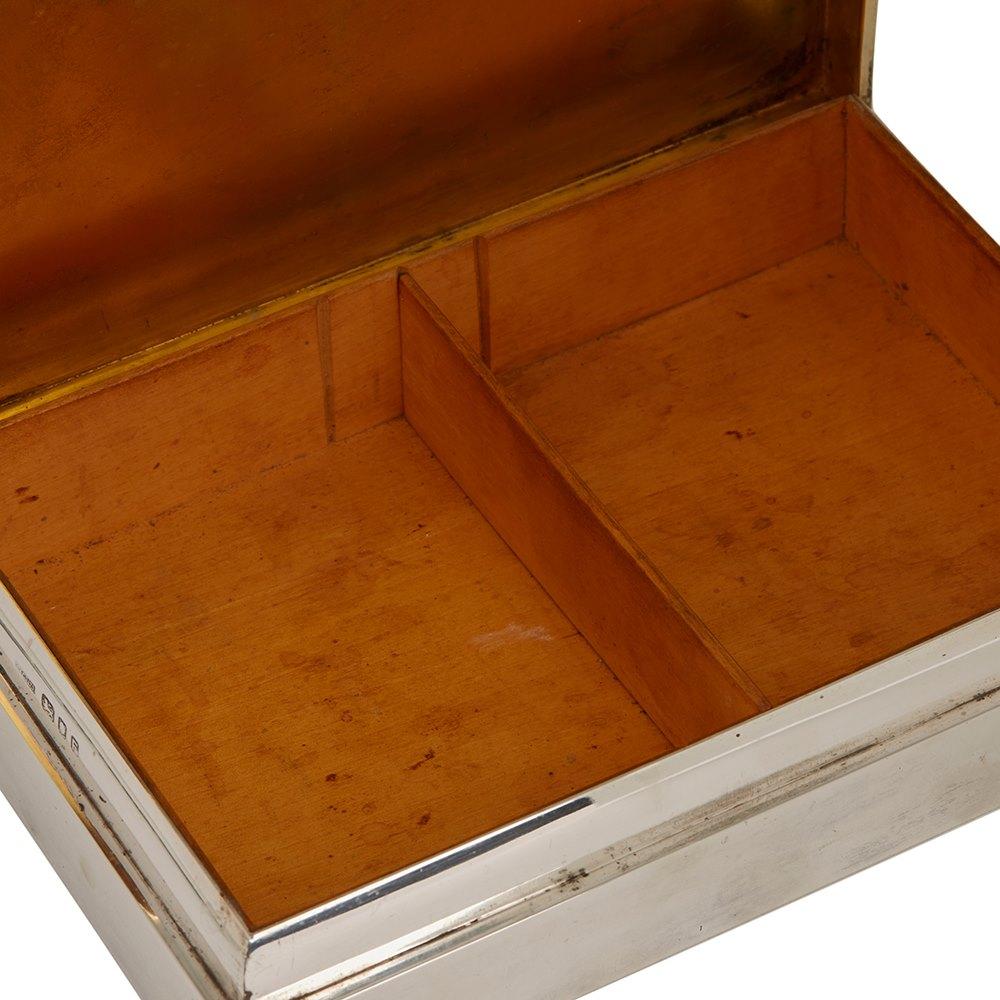 Asprey & Co. HM Submarine Unruffled Silver Box 1941 London assay marks for 1941