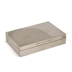 Asprey & Co. HM Submarine Unruffled Silver Box