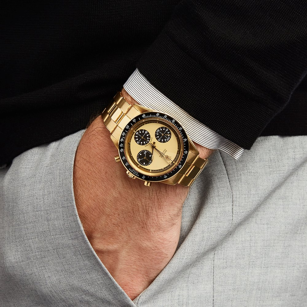 "Rolex ""Paul Newman"" Daytona Lemon Dial 18K Yellow Gold 6264"