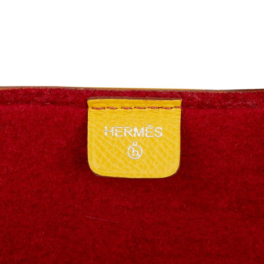 Hermès Soleil Epsom Leather & Rouge H Felt Petit H GM Skeleton Tote