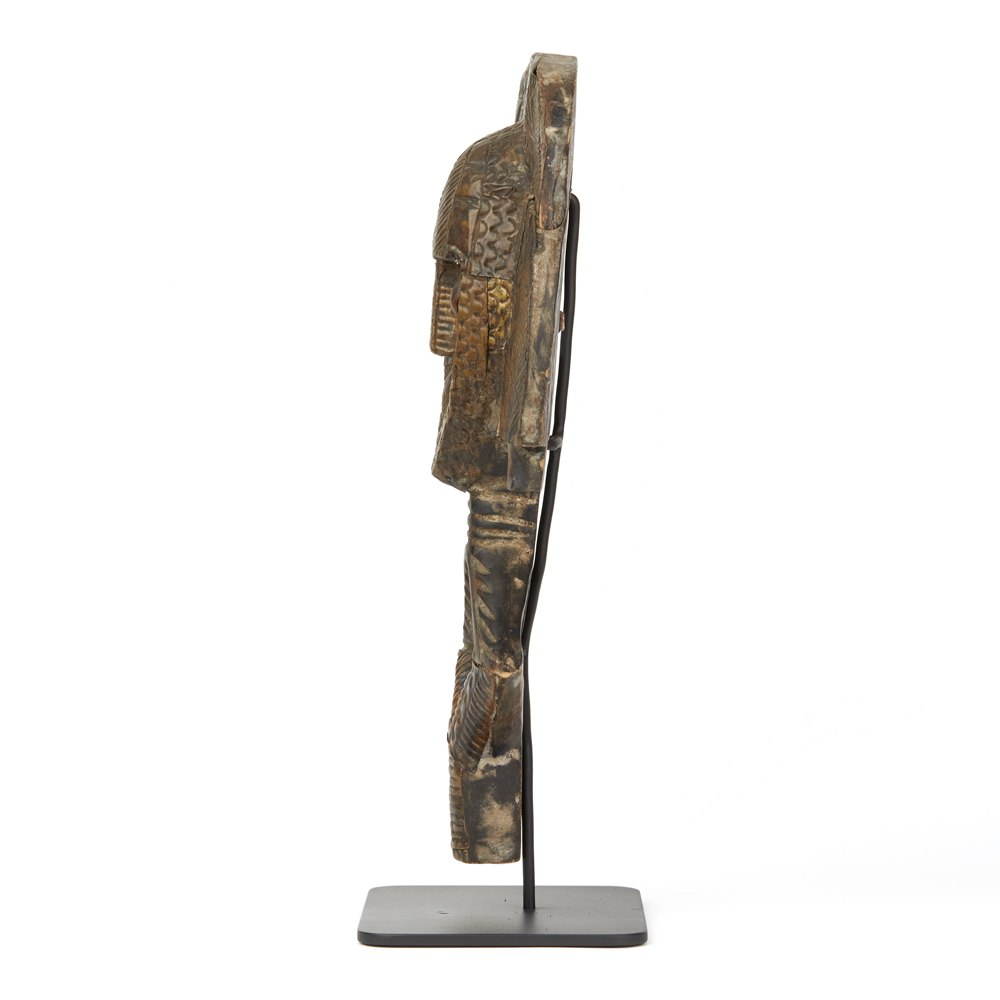 AFRICAN GABON MOUNTED KOTA TRIBE RELIQUARY FIGURE 20TH C. Believed first half 20th Century