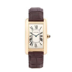 Cartier Tank Americaine Mechanique 18K Yellow Gold - 1737