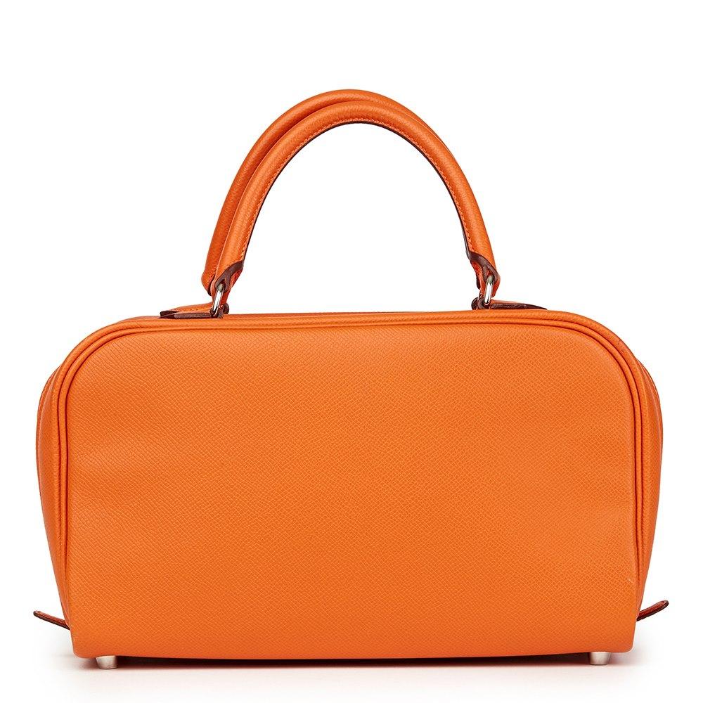 Hermès Orange H Epsom Leather Sac Envi 26cm