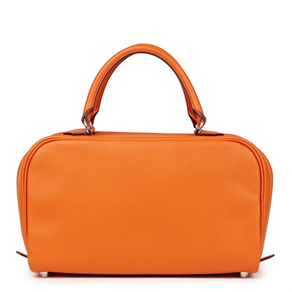 Hermès Orange H Epsom Leather Sac Envi 26cm