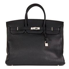 Hermès Black Clemence Leather Birkin 40cm