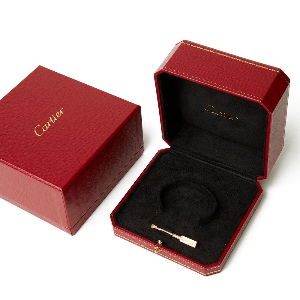 Cartier Cartier 18k Rose Gold 10 Diamond Love Bracelet