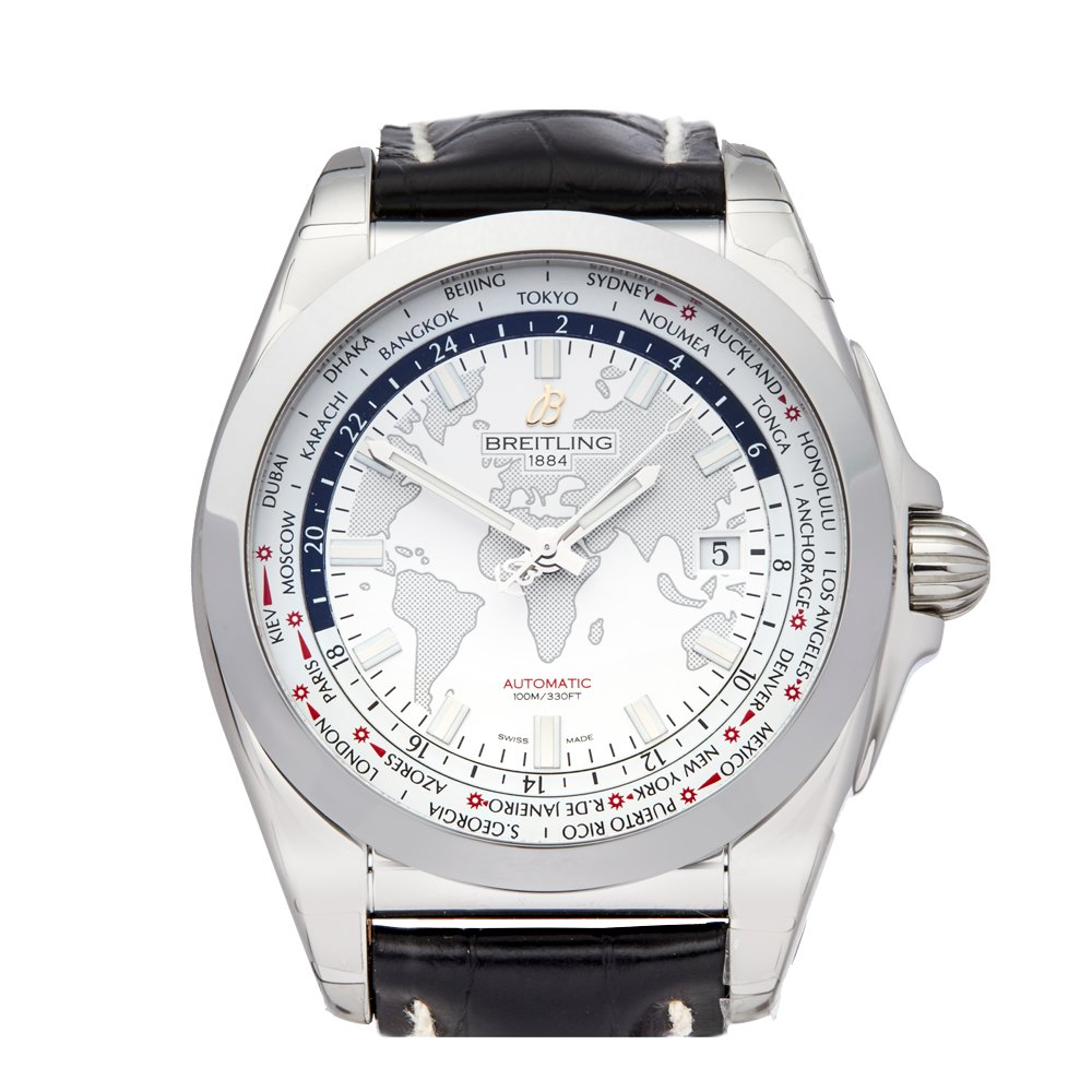 Breitling Galactic Unitime Stainless Steel WB3510U0/A7