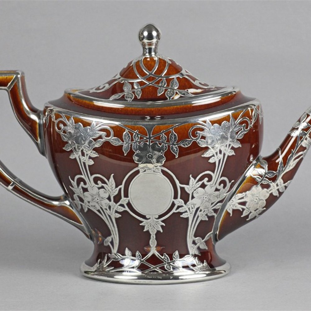 LENOX SILVER OVERLAY TEAPOT Early 20th Century
