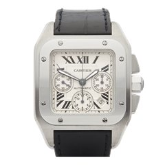 Cartier Santos 100 XL Chronograph Stainless Steel - W20090X8