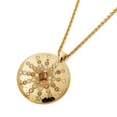 De Beers 18k Yellow Gold Sun Talisman Diamond Necklace