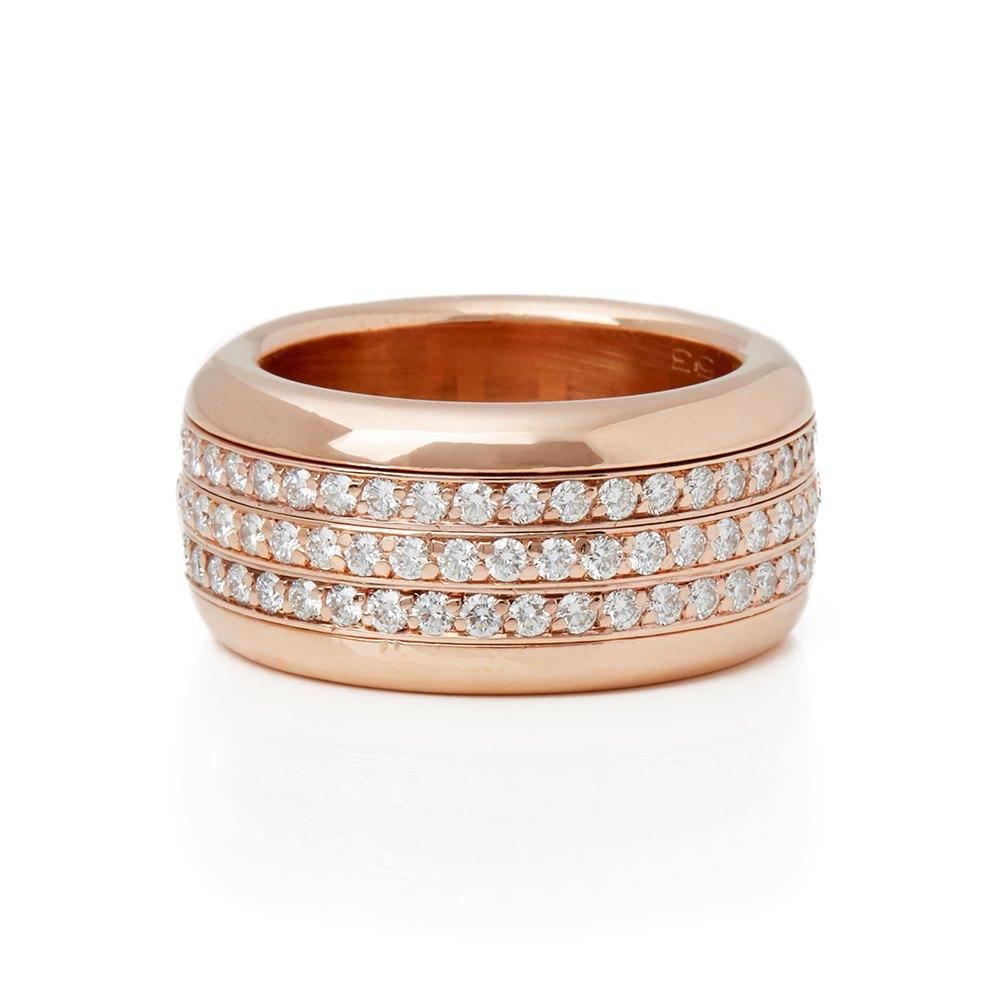 Bucherer 18k Rose Gold Diamond Rotating Variato Ring
