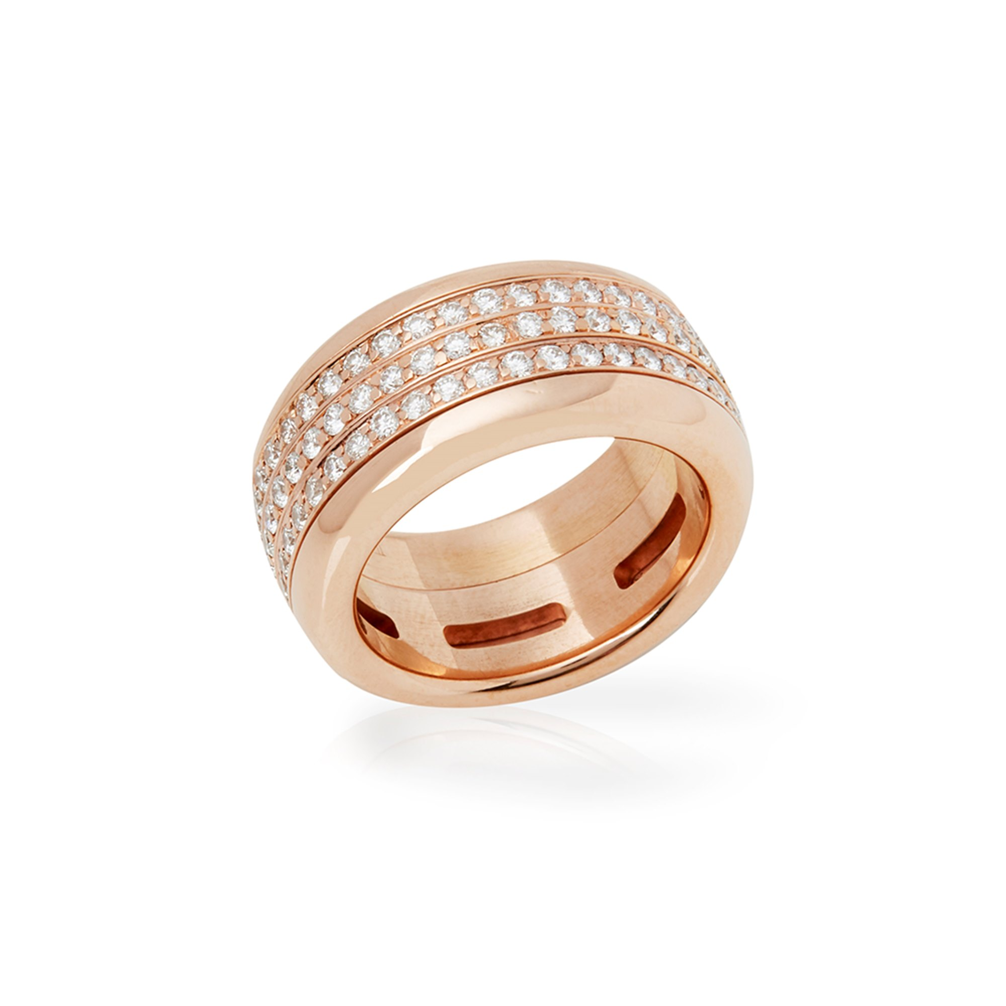 Bucherer 18k Rose Gold Diamond Rotating Variato Ring