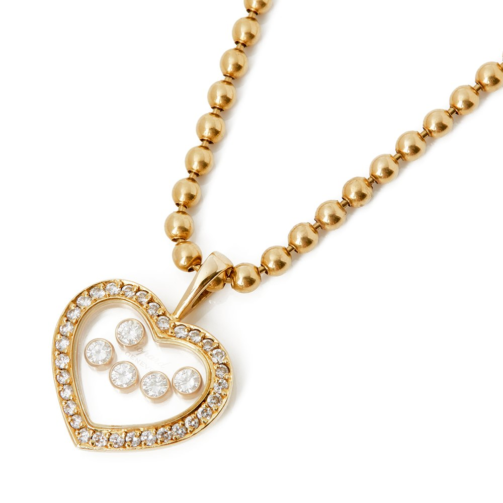 Chopard 18k Yellow Gold Happy Diamonds Pendant Necklace