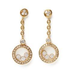 Chopard 18k Yellow Gold Happy Diamonds Drop Earrings