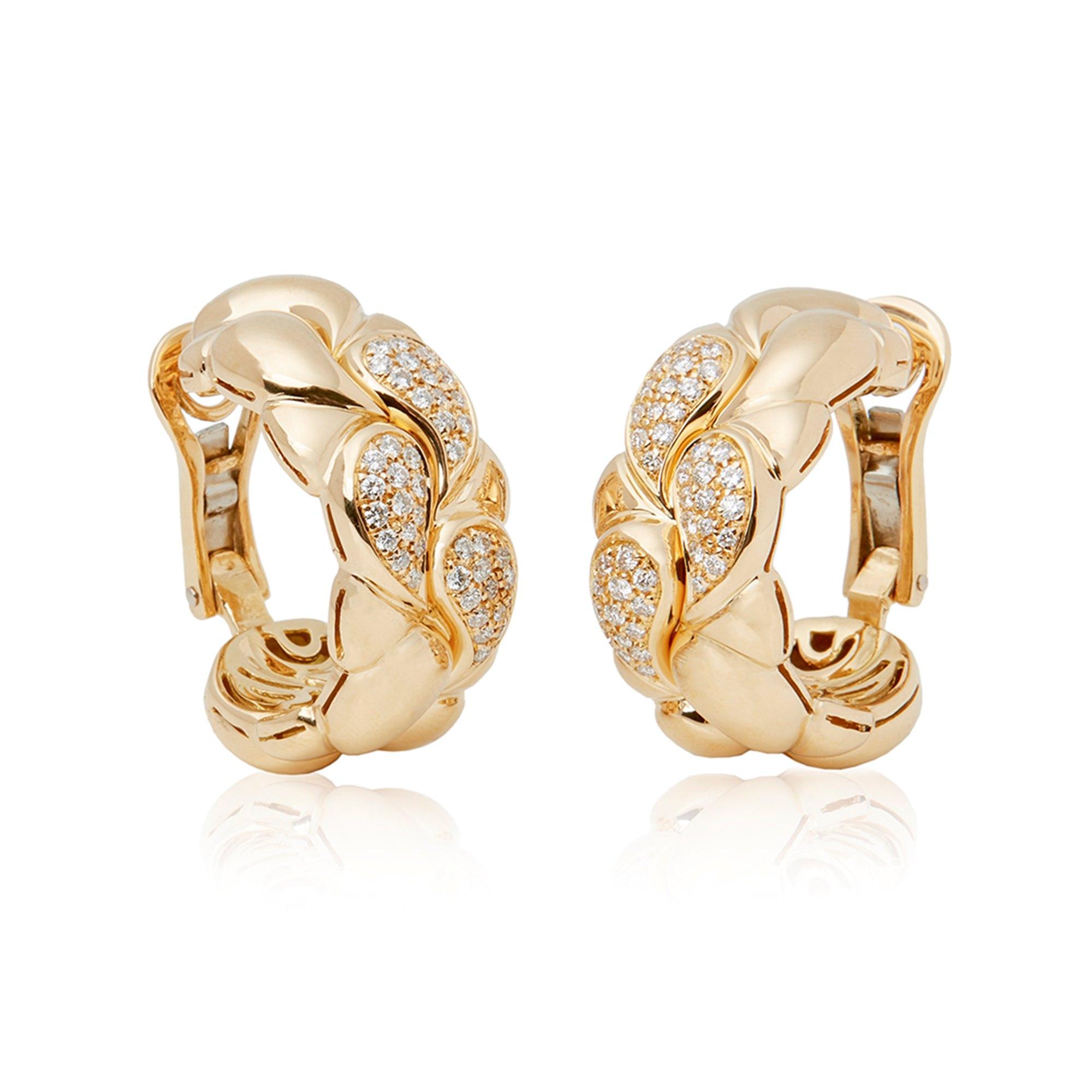 Chopard 18k Yellow Gold Diamond Cašmir Earrings